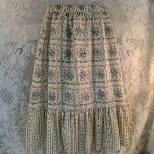 1960s Vintage Prairie Skirt
